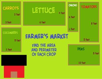 Area and Perimeter - Farmer's Market
