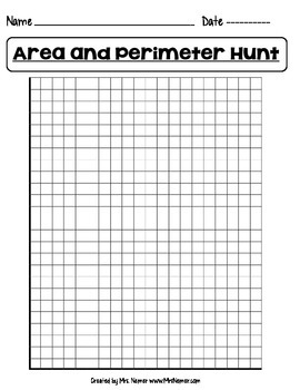 Area and Perimeter Hunt Worksheet