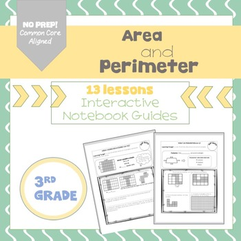 Area and Perimeter, Interactive Notebook Guides {C.C. Aligned}