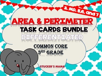 Area and Perimeter Math Centers