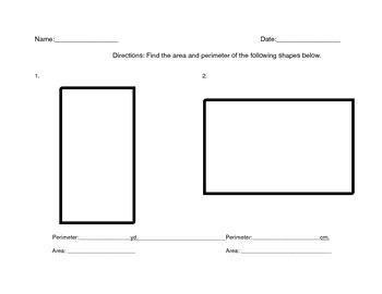 Area and Perimeter Quadrilateral Worksheet