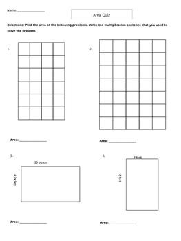 Area and Perimeter Quiz