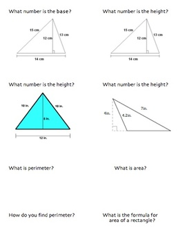 Area and Perimeter Quiz Quiz Trade