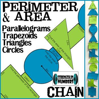 Area and Perimeter Rectangles, Triangles, Circles, Trapezo