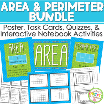 Area and Perimeter Squares & Rectangles Interactive Notebo
