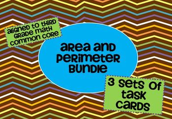 Area and Perimeter Task Cards Bundle