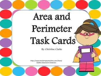 Area and Perimeter Task Cards- Common Core Aligned