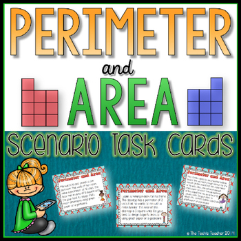 Area and Perimeter Task Cards (Square Units)