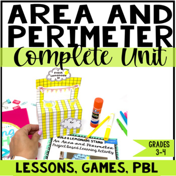 Area and Perimeter Unit with Lessons, Games, and Projects
