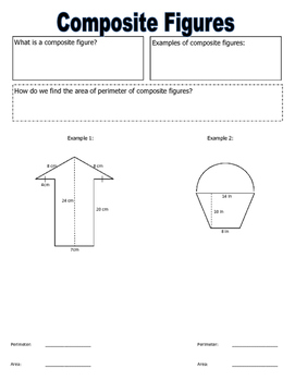 Area and Perimeter of Composite Figures