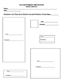 Area and Perimeter with Cheez-Its Worksheet - CC Aligned