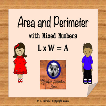 Area and Perimeter with Mixed Numbers Worksheet