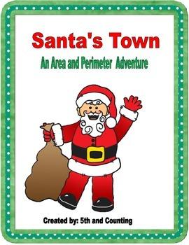 Area and Perimeter with Santa