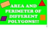 Area and Perimter of Polygons Smartboard Activity