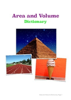 Area and Volume Dictionary