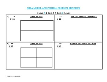 Area model & partial product multiplication dittos- 1 read
