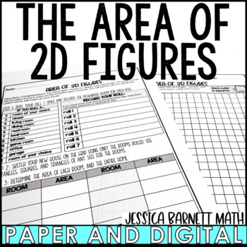 Area of 2D Figures Design a House Activity