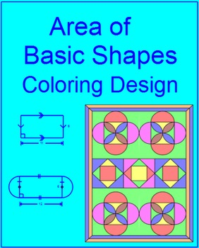 Area of Basic Shapes - Coloring Design