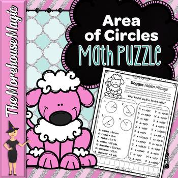 Area of Circles Math Puzzle