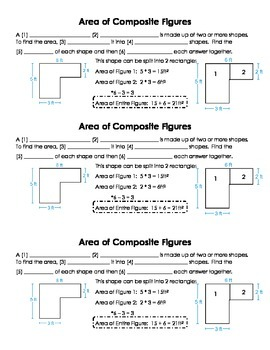 Area of Composite Figures Guided Notes