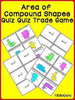 Area of Compound Shapes Quiz Quiz Trade Game