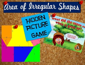 Area of Irregular Shapes Hidden Picture Game- PowerPoint