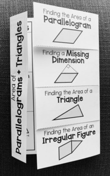 Area of Parallelograms & Triangles (Geometry Foldable)