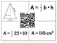 Area of Polygons 4 Square Matching Cards