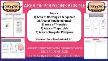 Area of Polygons Bundle (PowerPoint Lessons and Printables!)