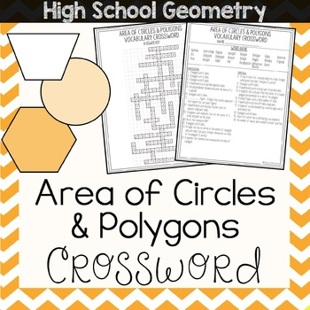 Area of Polygons & Circles Crossword