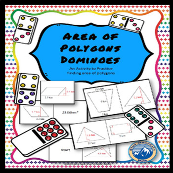 Area of Polygons Domino Set