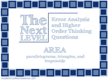 Area of Polygons: Error Analysis and Higher Order Thinking