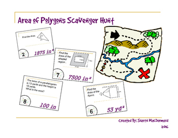 Area of Polygons Scavenger Hunt