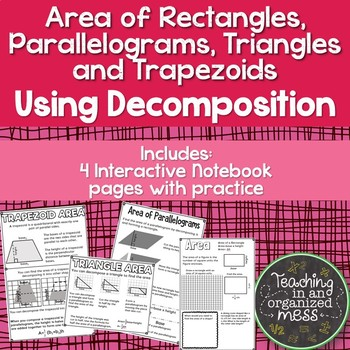 Area of Rectangles, Parallelogram, Triangles, and Trapezoi