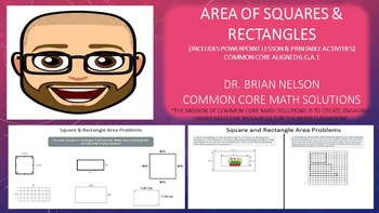 Area of Rectangles & Squares (PowerPoint Lesson and Printables!)