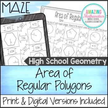 Area of Regular Polygons Maze