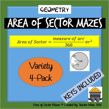 Area of Sector Mazes