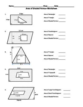 Worksheets Area Of Shaded Region Worksheet area of shaded region worksheet by carmen harpham teachers pay worksheet