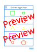 Area of Shapes BUNDLE Clip Cards, Lotto Game, Write & Wipe