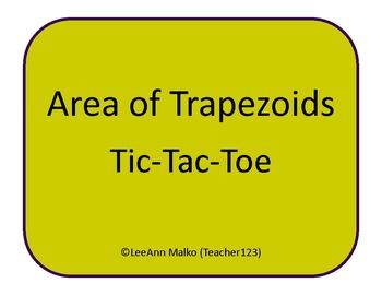 Area of Trapezoids Tic-Tac-Toe