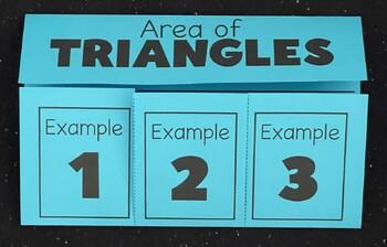 Area of Triangles (Foldable)