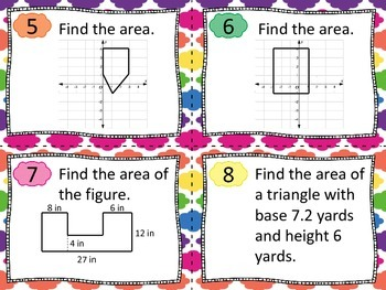 Area of Triangles, Quadrilaterals and Compound Figures Tas