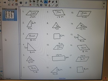 Area of Triangles and Parallelograms worksheet