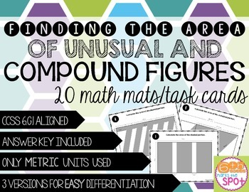 Area of Unusual and Compound Shapes CCSS 6.G.1 Aligned**