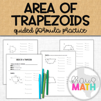 Area of a Trapezoid Notes and Practice