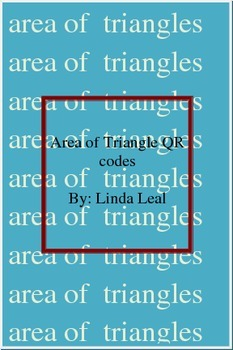 Area of triangles with QR codes