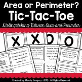 Area or Perimeter? Tic-Tac-Toe Activity