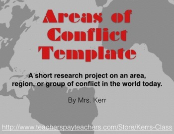 Areas of Conflict Template + Activity