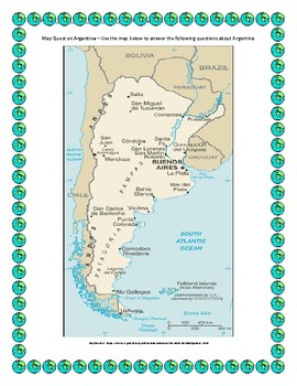 Argentina Map Quest Geography Skills