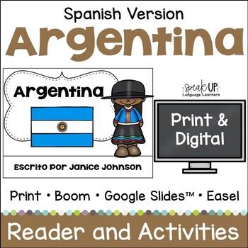 Argentina Reader {en español} & Vocab pages ~ Simplified f